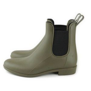 J.Crew Olive Green Chelsea Ankle Rain Boots